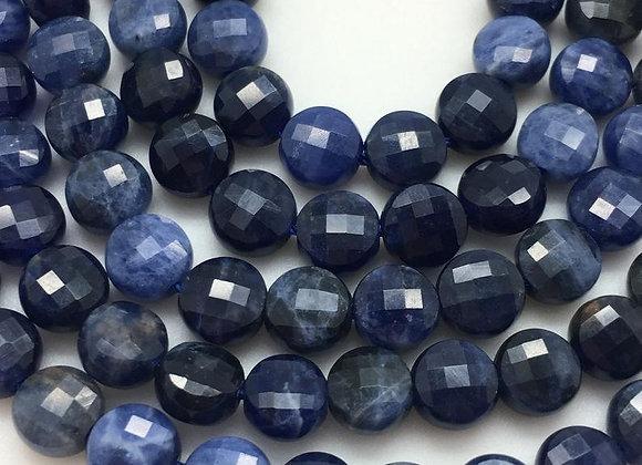 Sodalite palet 6x4mm facette - 60 perles par fil