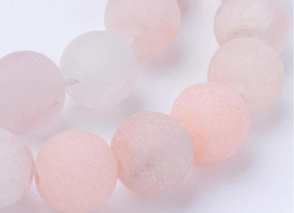 Aventurine Rose Givrée 6mm Naturelle - 61 perles par fil