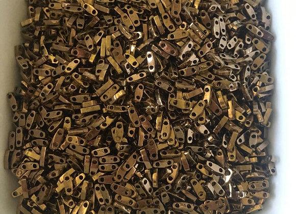 5g Miyuki Quarter Tila - Metallic Dark Bronze - 5x1.2x1.9mm - QTL0457