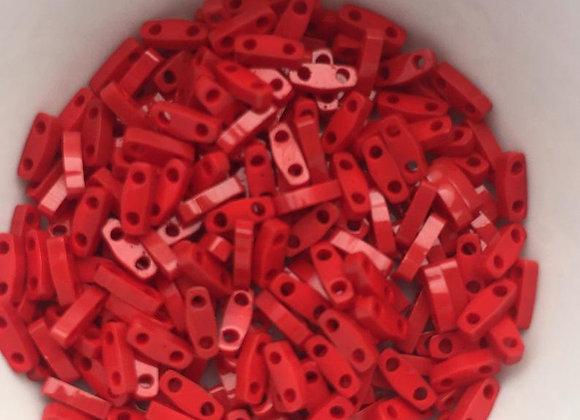 5g Miyuki Quarter Tila - Opaque Dark Red - QTL0408