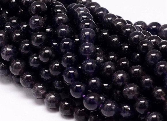 Iolite 6mm Naturelle - 61 perles par fil