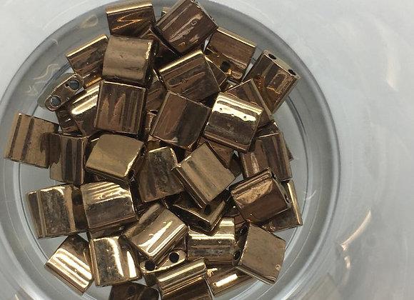 5g Miyuki Tila - Metallic Dark Bronze - 5x5x1.9mm - TL0457