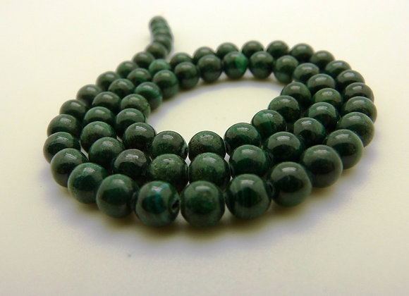 Malachite 6mm Naturelle - 61 perles par fil