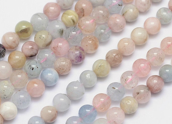 Morganite 6mm Naturelle - 61 perles par fil
