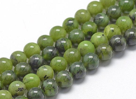 Jade Canada 6mm - 61 perles par fil