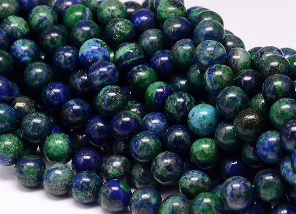 Lapis Lazuli Phoenix 8mm Naturelle - 47 perles par fil