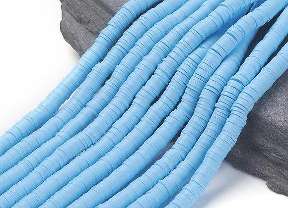Heishi en argile 6x1mm bleu ciel - 360 perles par fil