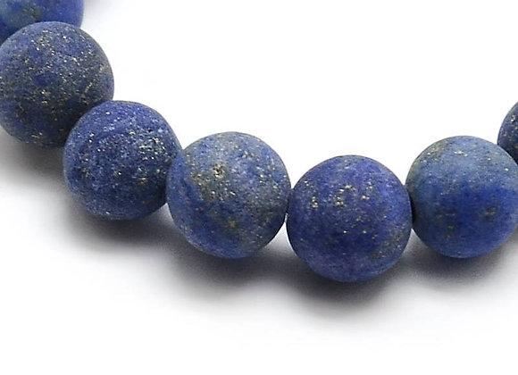 Lapis Lazuli Givré 6mm Naturelle - 61 perles par fil