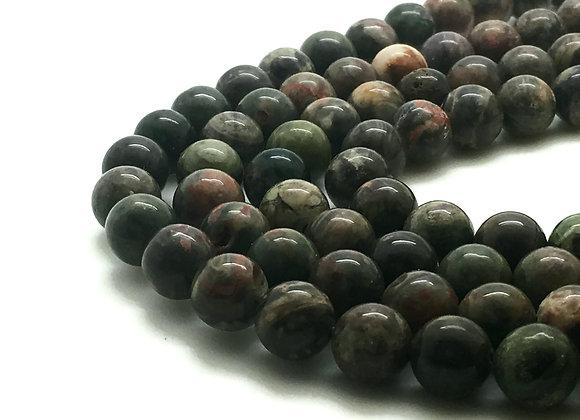 Jaspe Océan 8mm Naturelle - 47 perles par fil