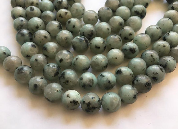 Jaspe Sesame 8mm - 47 perles par fil