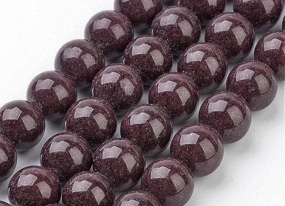 Jade Mashan Marron 10mm - 37 perles par fil
