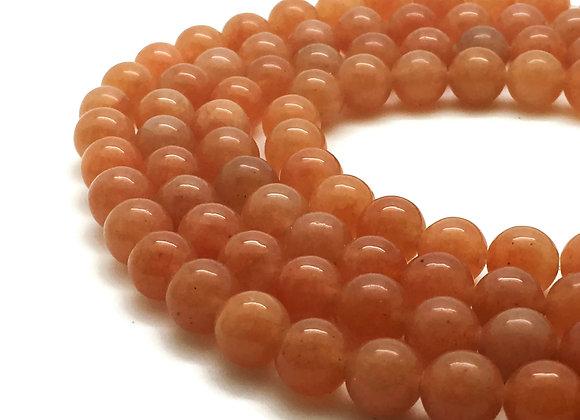 Aventurine Rouge Naturelle 8mm - 47 perles par fil