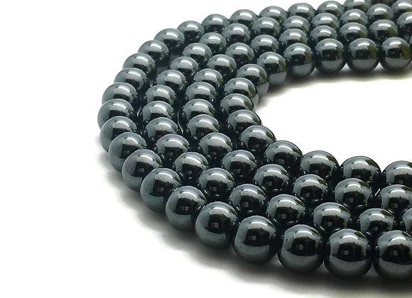 Hématite 4mm Noire - 89 perles par fil