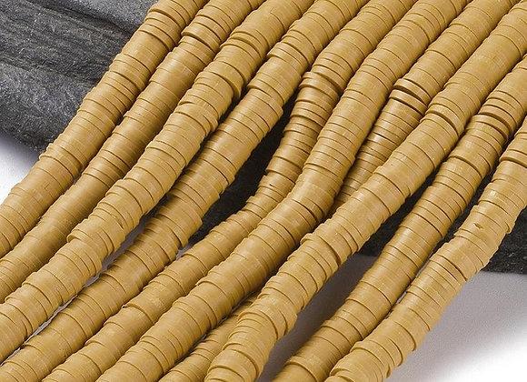 Heishi en argile 6x1mm saumon foncé - 360 perles par fil