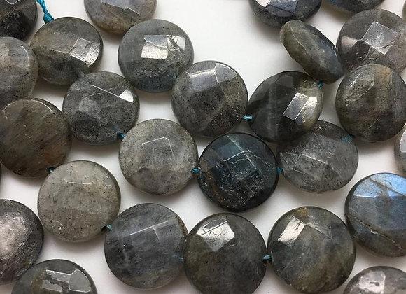 Labradorite palet 16x6mm facette - 20 perles par fil