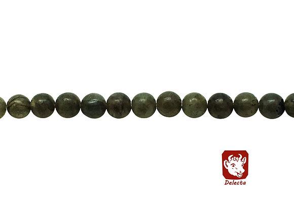 Labradorite Gris Vert 6mm Naturelle - 61 perles par fil