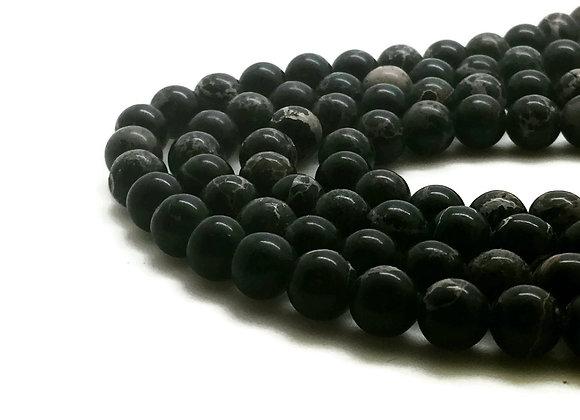 Régalite Noire 8mm - 47 perles par fil
