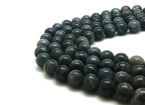 Labradorite 8mm Naturelle Grade AA - 47 perles par fil