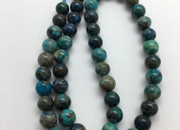Chrysocolle 8mm - 47 perles par fil