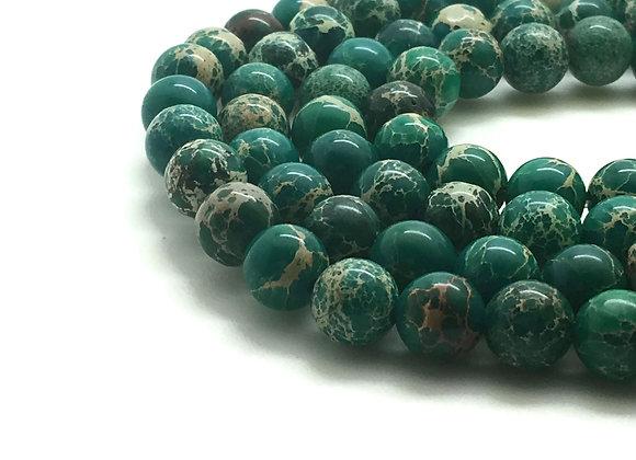 Régalite Verte 6mm - 61 perles par fil