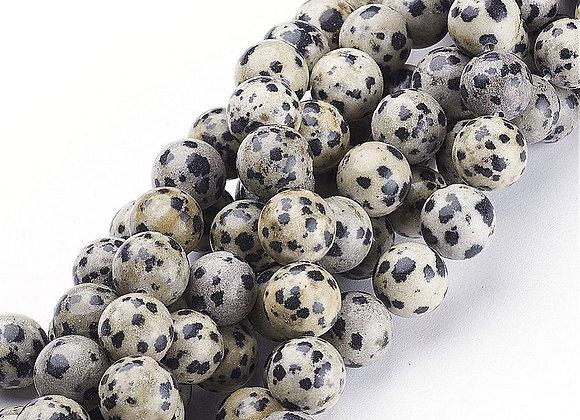 Jaspe Dalmatien 8mm Naturelle - 47 perles par fil
