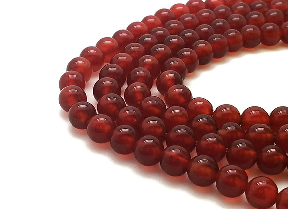 Agate Rouge 4mm Naturelle - 40 perles par fil