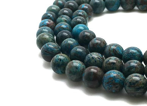 Agate Indonésie 12mm Naturelle - 32 perles par fil