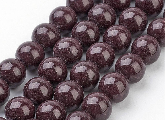 Jade Mashan Marron 8mm - 47 perles par fil