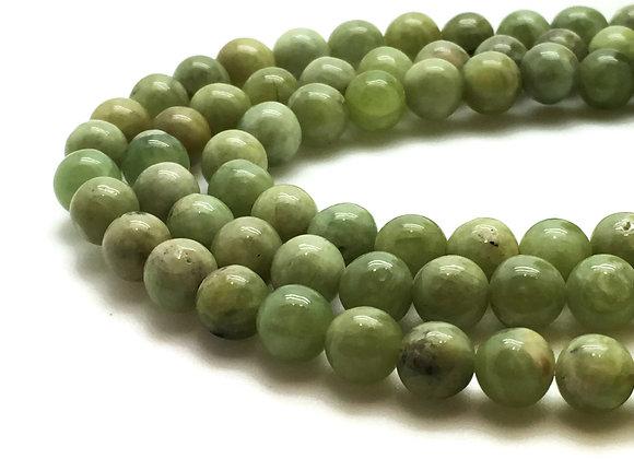 Péridot 10mm Naturelle - 37 perles par fil
