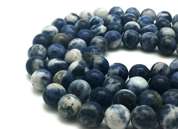 Sodalite 10mm Naturelle - 37 perles par fil