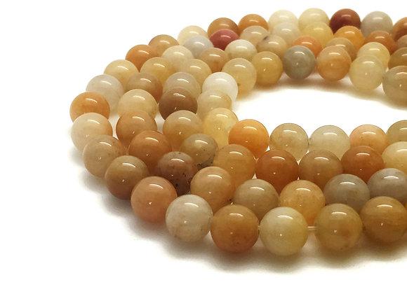 Jade Printemps 8mm Naturelle - 47 perles par fil