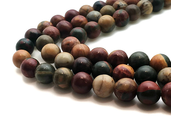 Jaspe Picasso 10mm Naturelle - 37 perles par fil