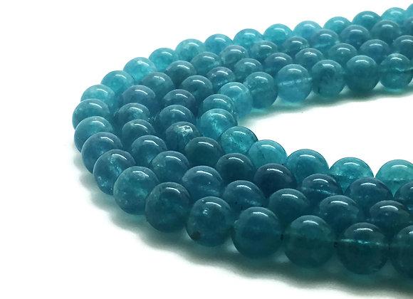 Quartz Bleu 8mm Naturel - 47 perles par fil