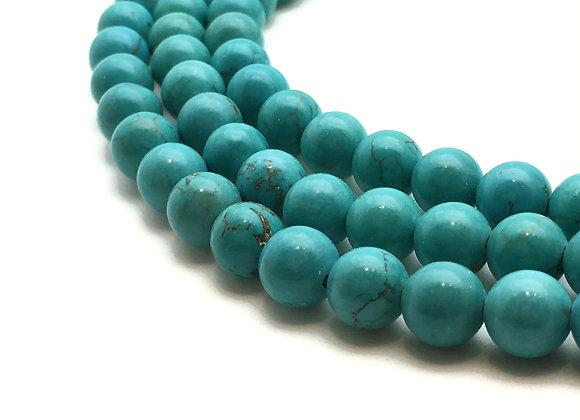 Turquoise Naturelle 8mm - 47 perles par fil