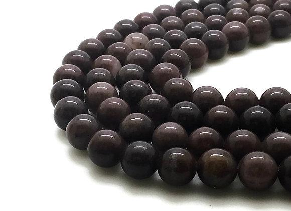 Aventurine Violette Naturelle 4mm - 89 perles par fil