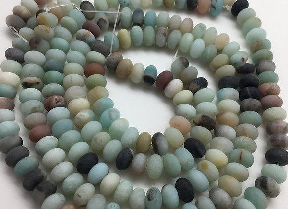 Amazonite givrée abacus 8x5mm - 70 perles par fil