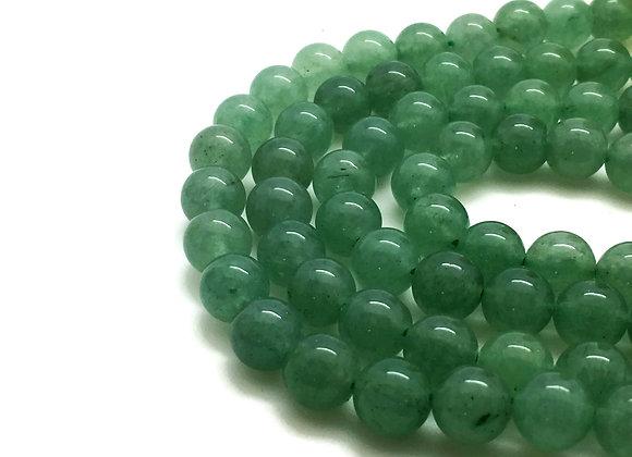Aventurine Verte Naturelle 8mm - 47 perles par fil