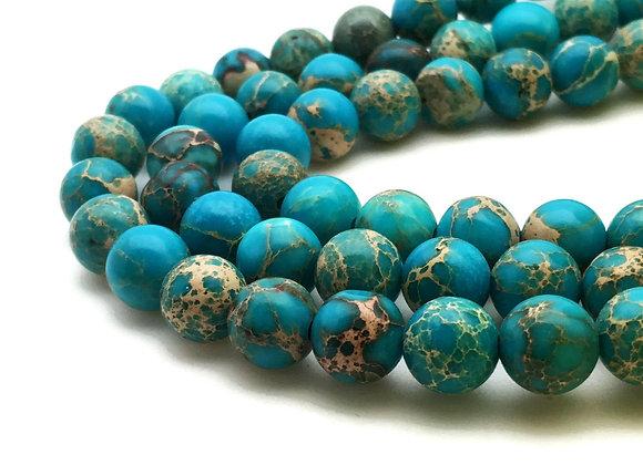 Régalite Bleu Clair 10mm - 37 perles par fil