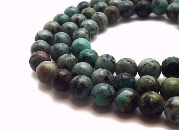 Turquoise Africaine 6mm Naturelle - 61 perles par fil