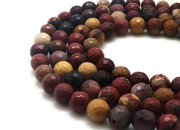 Mokaïte à Facettes 6mm Naturelle - 61 perles par fil