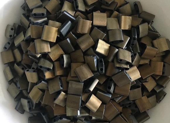 5g Miyuki Tila - Black Valentinite Full Matted - 5x5x1.9mm - TL55111