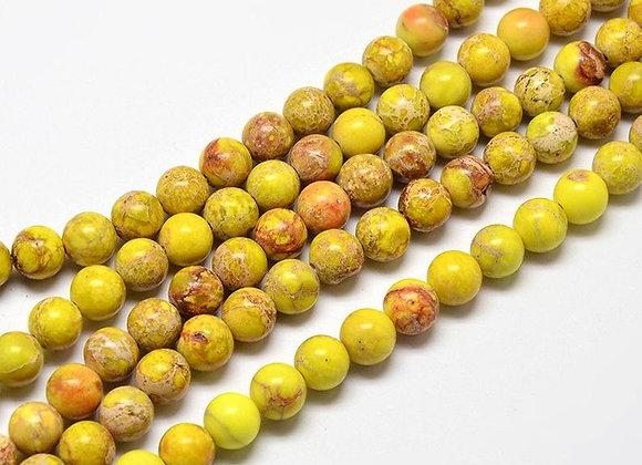 Régalite 8mm jaune - 47 perles par fil