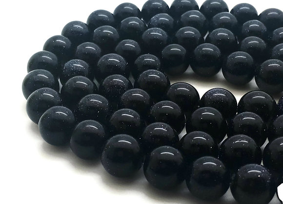 Sandstone Bleu 8mm - 47 perles par fil