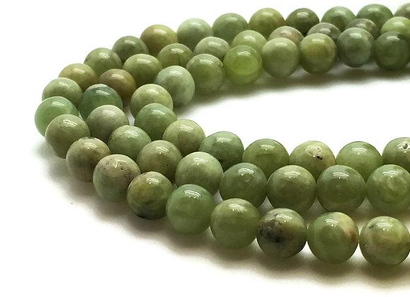 Péridot 6mm Naturelle - 61 perles par fil