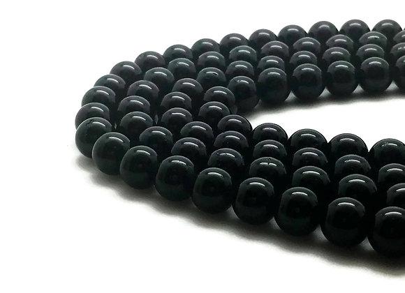 Tourmaline Noire 8mm Naturelle - 22 perles par fil