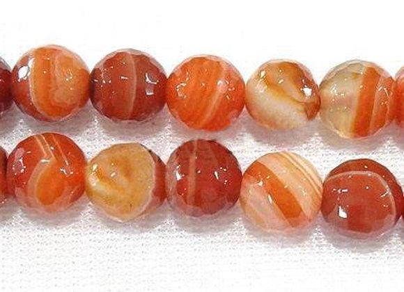 Agate Manchurian à Facettes 10mm Naturelle - 37 perles par fil