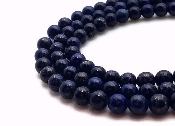 Lapis Lazuli 8mm Naturelle - 22 perles par fil