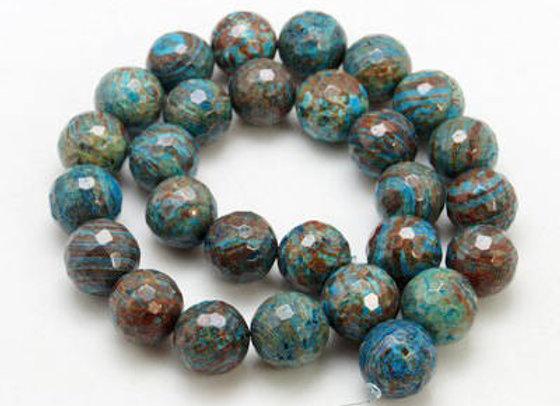 Agate à Facettes Indonésie 10mm Naturelle - 37 perles par fil