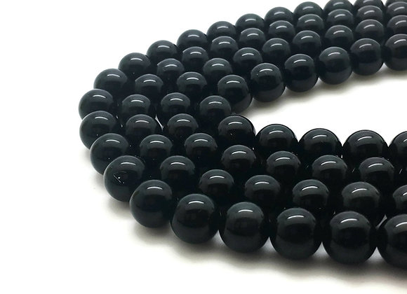 Obsidienne Noire 4mm Naturelle - 89 perles par fil