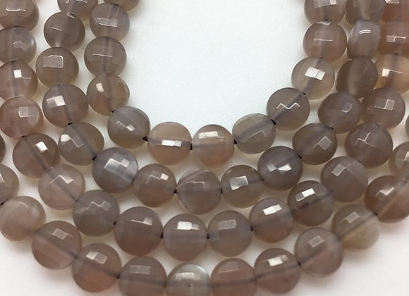 Pierre de lune palet 6x4mm facette - 65 perles par fil